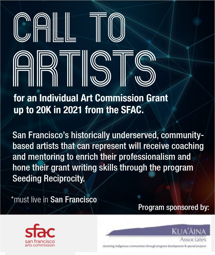 Call to Artists: Apply for a Grant from the SF Arts Commission