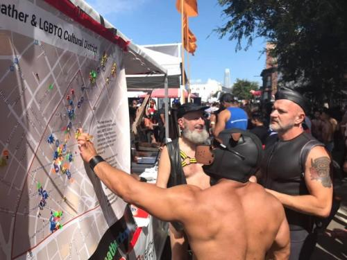 Booth at Folsom Street Fair