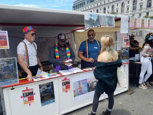 Booth at Pride Festival