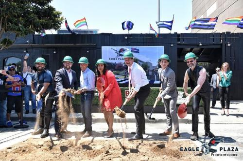 Groundbreaking for Eagle Plaza