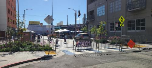 Eagle Plaza is readied for Leather Fest 2021